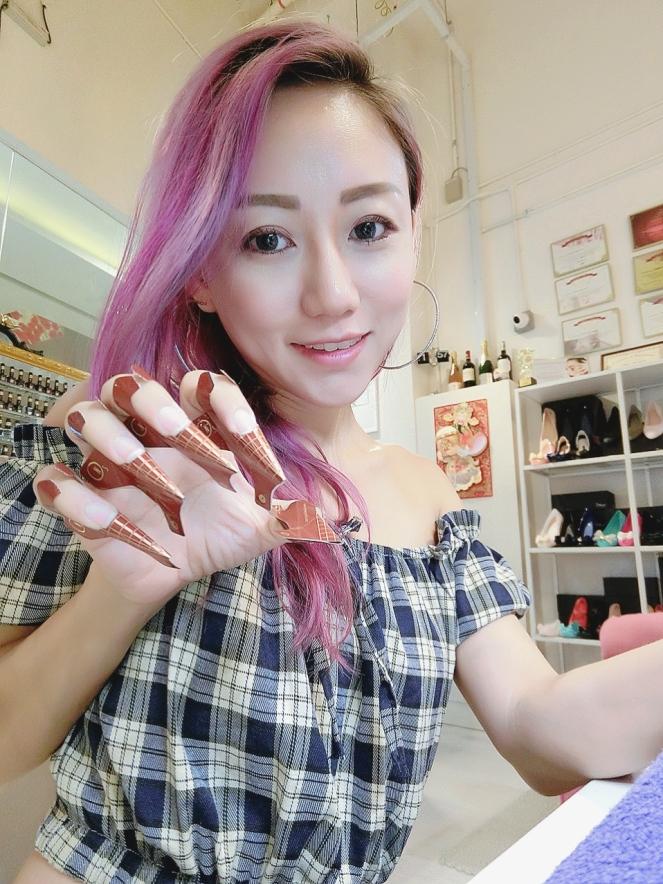 Nail by TANG Crystal X Galaxy Acrylic Extension Gel Mirror Nails Feb 2017 - Jpglicious (2)